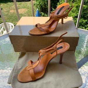 Sergio Rossi Pelle Royal Dalhia suede sandals